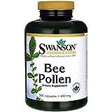 Swanson Pollen d'Abeille 400mg, 300 gélules - 100% Naturel - Ménopause, Performances Physiques, Allergies Saisonnières...