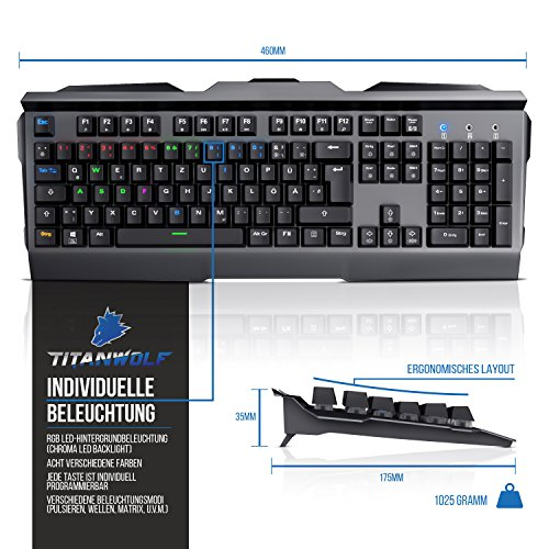 Ansicht vergrößern: Titanwolf - mechanische Tastatur