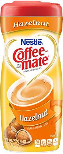 Nestle Coffee-Mate Haselnuss Kaffeeweißer Pulverform, 425.20 Gramm Pakete (Packung mit 6)