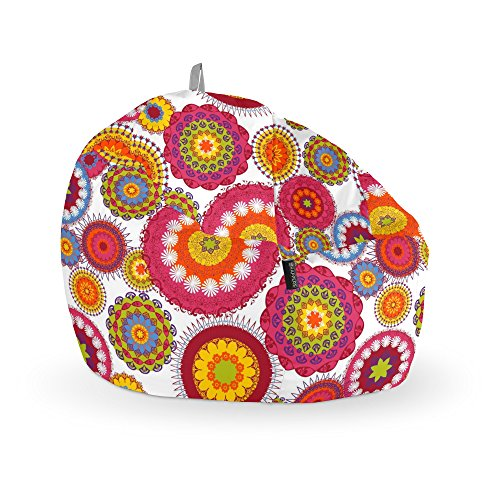 HAPPERS Puff Pelota Estampado Desigual