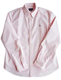 Exclusive Ralph Lauren Shirt Harper Stripe Pink Size XL, Custom Fit