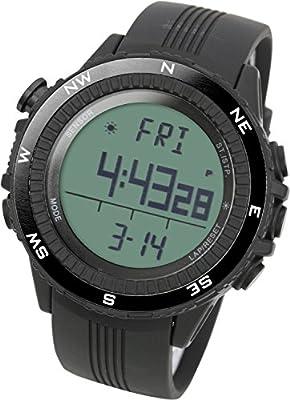 Lad Weather Altímetro Barómetro Brújula Termómetro Pronóstico del Tiempo Reloj Deportivo al Aire Libre