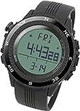 [LAD WEATHER] Sensore tedesco bussola digitale Previsioni del tempo Altimetro Barometro Cronografo allarme Outdoor (Alpinismo/a piedi/Campo) Sport Uomo Orologio da polso