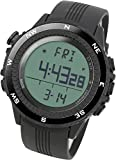 LAD WEATHER Reloj Altímetro Barómetro Brújula Pronóstico del Tiempo Deportes Sensor Alemán (bkno)