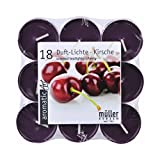 18 Duftteelichte Kirsche violett, 4 Stunden Brenndauer