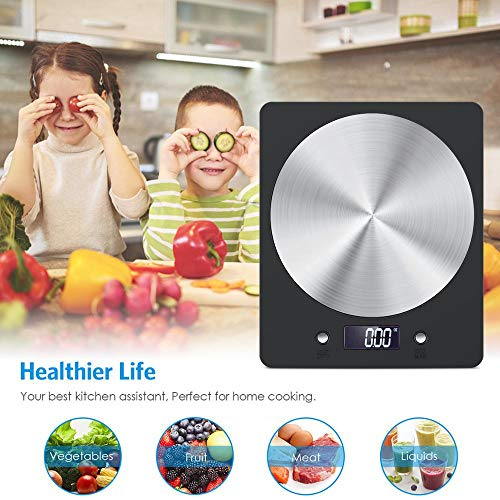 ZUEN Digitale Küchenwaage Elektronische Ultradünne Lebensmittelwaage Mit LCD-Monitoren Home Küchenschmuck Edelstahlwaage Commercial Lcd Monitor