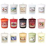 Yankee Candle set di 15 candele, fragranze varie