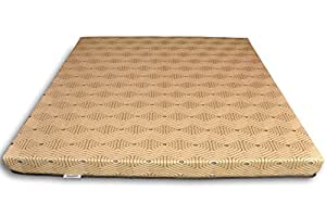Sleepwell Enovation 5-inch Double Size Foam Mattress (Chocolate Brown, 78x60x5)