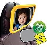 Empresa activa bebé coche Espejo con señal de bebé a bordo y UV Sun Shade