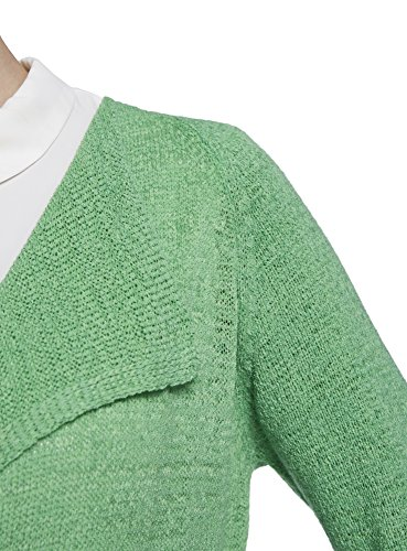 oodji Collection Damen Cardigan aus Bandgarn Grün (6500N)
