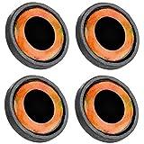 Spro Pike Fighter Big Eye Screw - 4 Fischaugen für Gummifische, Augen mit Schraubspirale, Gummifischaugen, Farbe:Goldfarben - 12mm