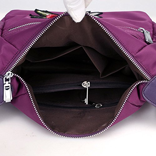 HT Womens Cross-Body Bags, Borsa a tracolla donna Grape