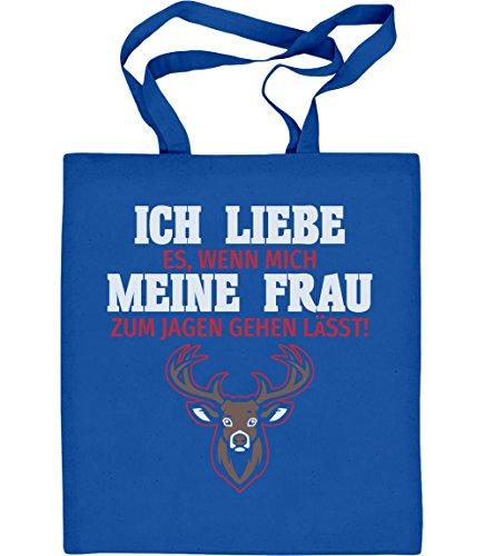 Geschenke für Jäger Herren Jutebeutel Baumwolltasche Blau