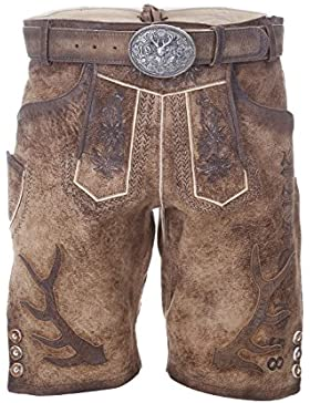 Michaelax-Fashion-Trade Krüger - Herren Lederhose in braun, Arabica (95697-7)