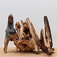 creative in vero legno carving Artwork Tree Root base Home Office Room decorazioni ornamentali, in seguito a