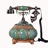 NDIANHUA Antique Telefon- Retro Home Office Telefon Holz Griff und Messing Mit RRR Ring Ringtones - Mode A+ (Farbe : Blau)