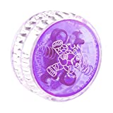 Beyove Plastic Auto-Return Light up YoYo Balls, Professional Auto-Return with String for Children Kids Adult Toys (Purple)