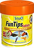 Tetra FunTips Tablets Haft-Futtertabletten (Hauptfutter, haftet an der Scheibe, zum Fische beobachten, natürliche Verstärkung der Farbenpracht), 75 Tabletten Dose