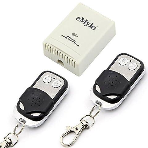 eMylo 10A AC 220V-230V-240V 1000W 2-Kanal kabellose Smart-Fernschalter, selbstsperrend, Transmitter, (Relè Interruttore)