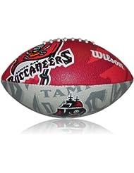 Wilson Football NFL Junior Tampa Bay Buccaneers Logo - Balón de fútbol americano ( infantil, caucho ) , color multicolor, talla 5