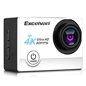 "Excelvan Q8 - Action Cam WiFi 4K 30FPS FHD 1080P 170 ° Grandangolare 2.0"" Schermo LCD Impermeabile Sports Camera Fotocamera Videocamera Digitale Cam Video Car DVR"