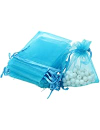 Magideal 100pcs Organza Gift Jewelry Bags Pouches Wedding Favours White