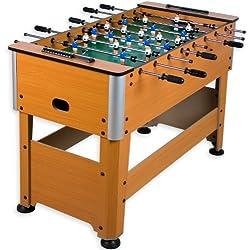 """Futbolín de mesa """"Manchester"""" de haya incluido Juego de accesorios, pies regulables en altura, campos de juego perfectamente levantados, pateador de mesa, pateador, futbolín"""