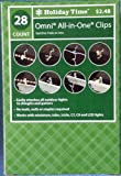 4 boxes Holiday Time All Purpose Light Holders for Gutters Roofs For Mini - Tube - Icicle - C7 - C9 - or LED Lights / 28 Count box Each by Holiday Time / Walmart