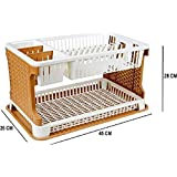 Aristo Lenovo Kitchen Organiser Rack (MultiColor) pack of 1 with water collecting tray
