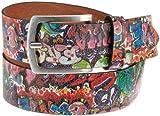 MGM Unisex - Erwachsene Gürtel 118-7844, Gr. 85, Mehrfarbig (Grafitti)