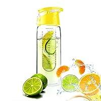 Homesunshine 800ml Yellow Fruit Infusing Water Bottle