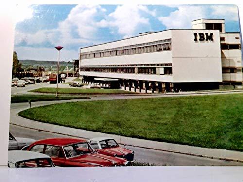 IBM Sindelfingen / Böblingen. Forschungs - und Entwicklungszentrum. Gebäudeansicht, Straßenpartie, alte Autos