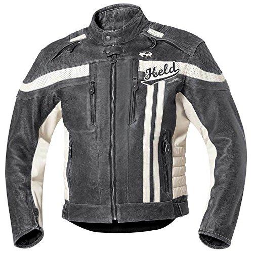 Held Harvey 76 Retro Lederjacke, Farbe schwarz-weiss, Größe 50