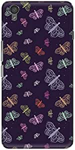 The Racoon Lean printed designer hard back mobile phone case cover for Oneplus X. (Purple Flo)