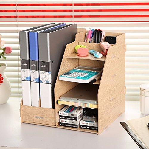CNMDGBWY Datei - Frame, Holz -, Korb - Datei, Rack, Office Data Frame, Die Erfassung Box, Datei - Kolumne,Log - Farbe (Log-korb)
