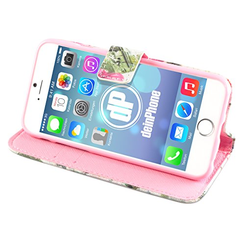 deinPhone Apple iPhone 6 (4.7) Case Rosa Weiße Blumen Sights