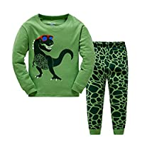 Little Boys Pyjamas Set Dinosaur Toddler Kids PJS Sets Christmas Long Sleeve Nightwear Cotton Clothes 2 PCS Sleepwear Age 1-7 Years