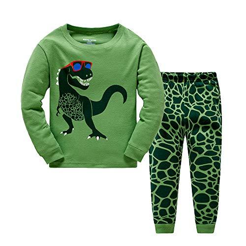 BABSUE Jungen Schlafanzug Kinder Dinosaurier Pyjamas Sets Kleidung Baumwolle Kleinkind Pjs Nachtwäsche 1-8 Jahre