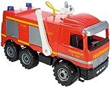 Lena 02058 - Starke Riesen Feuerwehr Mercedes Benz Actros, ca. 65 cm, großes Feuerwehrauto mit 3 Achsen, 1,5 Liter Wassertank, Wasserkanone bis 8 Meter, robustes Spielfahrzeug für Kinder ab 3 Jahre Test