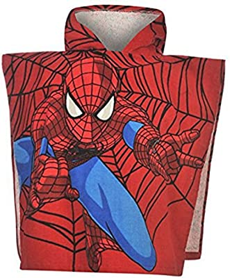 Character Kids niños infantil superhéroe, Poncho toalla de playa vestido con capucha Top
