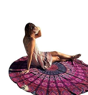 Yistu Runde Hippie Wandteppich Strand werfen Roundie Mandala Handtuch Yoga Matte böhmischen Norwegens