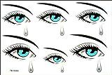 spestyle impermeable no tóxicos tatuajes temporales stickerslatest nuevo diseño hombres y mujeres Temp adhesivo resistente al agua la Tearful Tatuajes Temporales