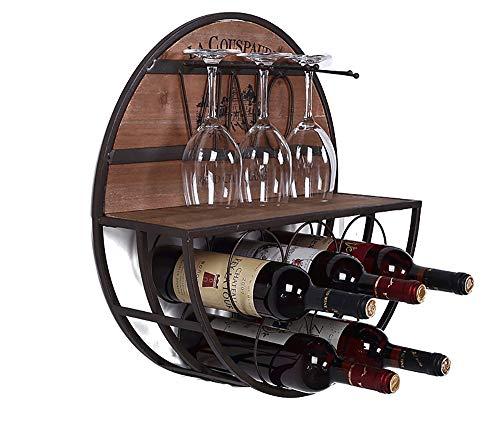 Retro Massivholz Wand Weinregal Flaschenhalter Schrank Flaschen Display Regale Organizer Racks Für Hauptdekorationen-wood-D