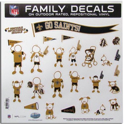 Siskiyou NFL New Orleans Saints Large Family Decal Set -