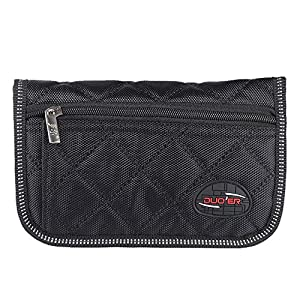 ammoon Durable Soft Trumpet Trombone/Euphonium Mouthpiece Pouch Bag with 4 Compartments - Black