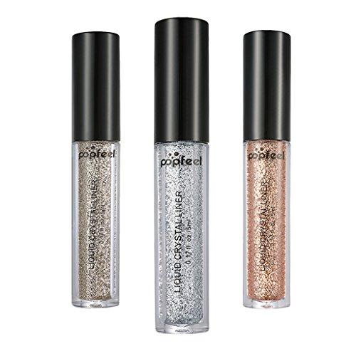 MagiDeal 3 Farben Glitter Eyeshadow - Glitzer Lidschatten Augen Schimmer Glitzer Puder zur Kosmetik Make-up von Augen und Nagel Glitzer Eyeshadow Pigment Powder