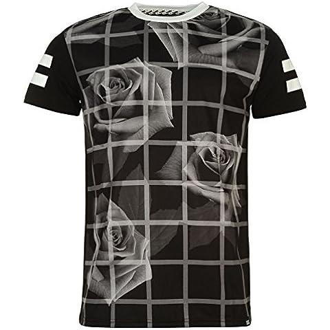 Fabric -  T-shirt - A righe - Collo a U  - Maniche corte  - Uomo