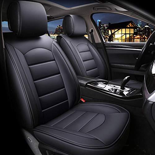 , Vorne und Hinten, 5 Sitzplätze, Kompletter Satz Universal-Airbag-Sitzbezüge aus Leder Mit Four Seasons Pad-Funktion (Farbe : Schwarz) ()