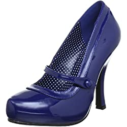 Pleaser EU-CUTIEPIE-02 - Zapatos de tacón de material sintético, mujer, color Azul