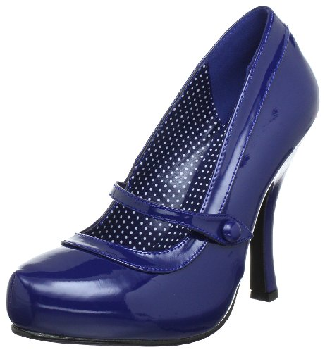 Pin Up Couture CUTIEPIE-02 Damen Pumps, Blau (Navy blue pat), EU 39 (UK 6) (US 9)